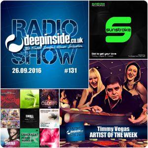DEEPINSIDE RADIO SHOW 131 (Timmy Vegas Artist of the week)