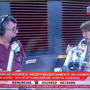 Entrevista a Doris Quiroz del Departamento de Oftalmología del Hospital Almenara