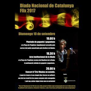 Flix celebrarà els actes de la Diada Nacional de Catalunya el diumenge 10 de setembre.