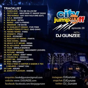 #CITYJUMPOFFMIX WITH DJ GUNZEE ON CITY 105.1 FM [EPISODE 28]