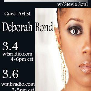Soul Merge World Radio Show hosted by Stevie Soul wsg: Deborah Bond pt 1