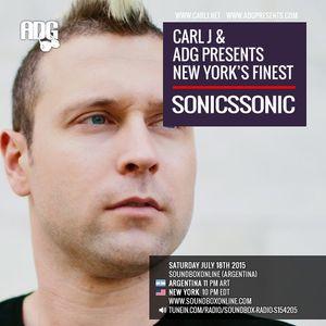 CARL J & ADG PRESENTS - SONICSSONIC