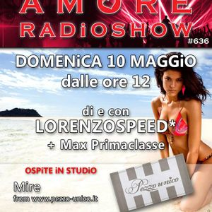 LORENZOSPEED presents AMORE Radio Show 636 Domenica 10 Maggio 2015 MAX PrimaCLasse and MiRE part 2