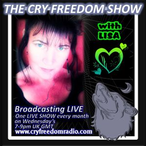 The CRY FREEDOM SHOW LIVE: Wed 12th Nov with ROBERT and BARBARA YOUNG