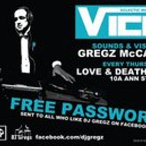 Dj Gregz McCann presents VICE in Love & Death Inc Belfast. Thursday 22nd Sept Part 1