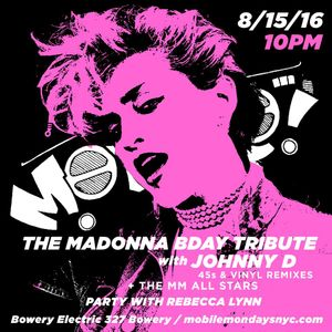 Madonna on Vinyl by Johnny D at Mobile Mondays!