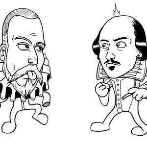Shakespeare e Cervantes a colazione