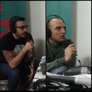 Stefano e Rocco di Radio Gazzarra intervengono a Radio Barrio durante il XVI Congresso Arci