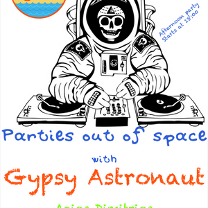 Oranje beach bar parties out of space with Gypsy Astronaut on 27/06/2013