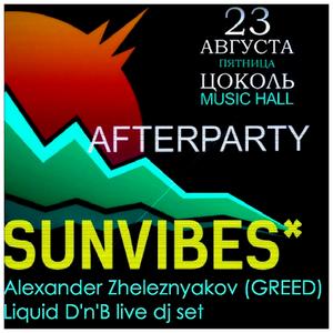 Alexander Zheleznyakov (GREED) - Liquid D'n'B live dj set on AfterParty SunVibes 2013 / 23.08.2013