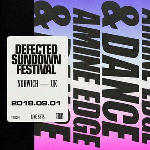 2018.09.01 - Amine Edge & DANCE @ Defected - Sundown Festival, Norwich, UK