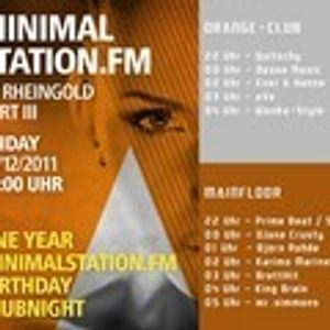 BrettHit - Minimalstations B-Day ClubNight @ Rheingold Duesseldorf