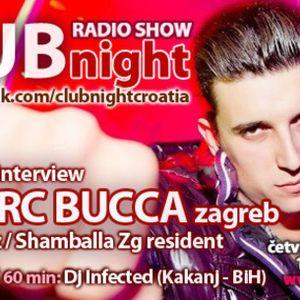 Club Night Radio Show VOL. 14 - 23.02.2012. - Dj Sasha (NG) Marc Buca & INFECTED