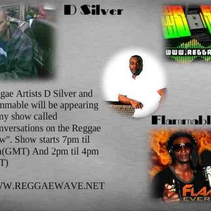 DSilver And Keino Representing Flammable On Conversations On The Reggae Show
