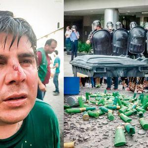 Fabiana Marisan, secretaria gremial de ATE-Represión en Neuquen-LaPatriaDeLasMoscas-1/12/17