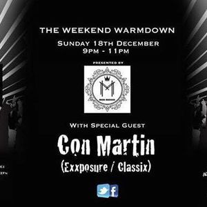 Mark Maddox - The Weekend Warm Down Featuring Con Martin Live On Pure 107 18.12.2016