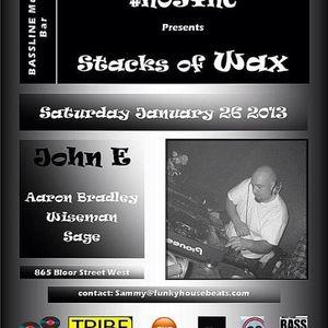 John E @ #NoSync Stacks of Wax party 26/01/13