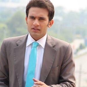 Mubashir Hashmi  News anchor at Waqt News