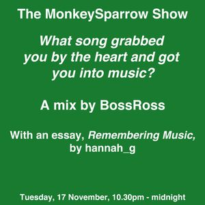 Boss Ross - What song grabbed you by the heart & got you into music? - The MonkeySparrow 29