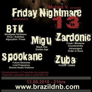 Mutant V presents Migu - Friday The 13th Nightmare Mix @ brazildnb.com