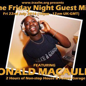 Donald Macauly On Trax FM! - 22nd July 2016