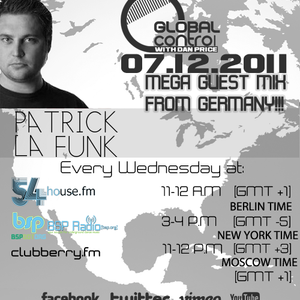 Dan Price - Global Control Episode 036 (07.12.11) Patrick la Funk Guestmix