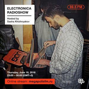 Electronica Radioshow @ Megapolis 89.5 FM – 16.06.2016 w/ Sasha Khizhnyakov