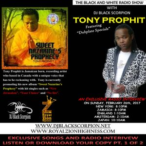 Tony Prophit - Radio Interview on The Black and White Radio Show 2-26-17 PT.1