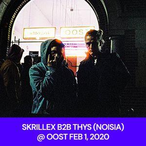 SKRILLEX B2B THYS (NOISIA) @ OOST FEB 1, 2020