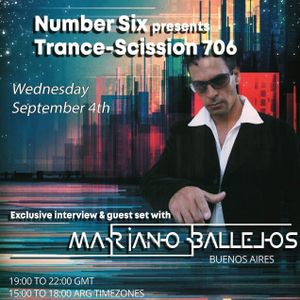 LIVE Trance-Scission 706 (Now w/ DOWNLOAD link) w/ Mariano Ballejos, September 4th 2019