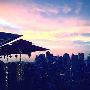 Sunday Sunset from CÉ LA VI Singapore