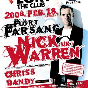 Nick Warren - Live @ Flört Club, Siófok Farsangi Party (2006.02.18)