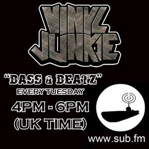 "VINYL JUNKIE - ""Bass N Beatz"" - Sub.FM 26th Jun 2012 (Special Guest Sanxion)"