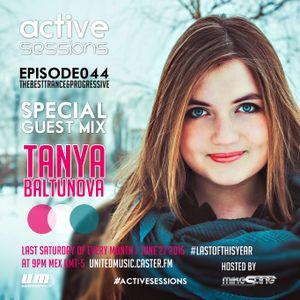 Active Sessions #044 Special Guest Mix Tanya Baltunova