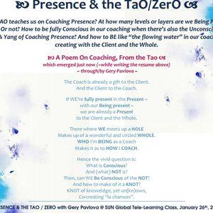 Presence & the TAO / ZERO @ SUN Global Coaching Tele-Classes