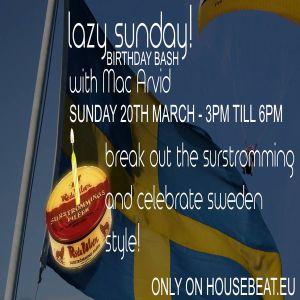 Lazy Sunday 1 year anniversary 2016-03-20