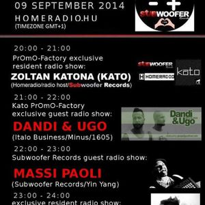 20140909 22h-23h(GMT+1) Subwoofer Records Guest Radio Show w/Massi Paoli(Subwoofer Records/Yin Yang)