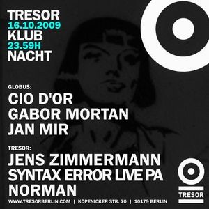 Norman @ Klubnacht - Tresor Berlin - 16.10.2009