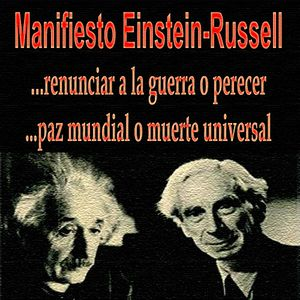 Einstein-Russell Manifesto Press Conference (Bertrand Russell)