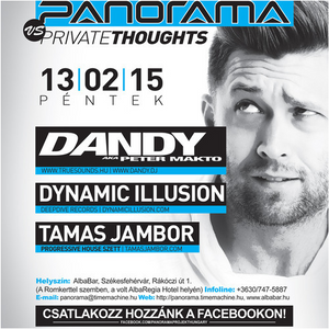 Dandy aka Peter Makto live at Alba Bar, Székesfehérvár - Panorama event 2013.02.15.