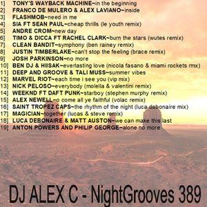 DJ ALEX C - Nightgrooves 389 housedub pop 2017