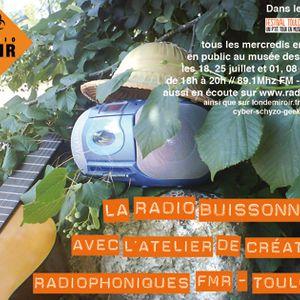 """Enregistrement de la 3e émission """"Radio Buissonnière 2012"""" (01.08.2012) - Festival Toulouse d'Été"""