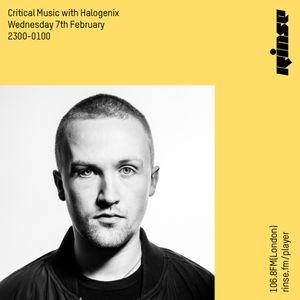 Critical Sound no.51 | Halogenix | Rinse FM | 07.02.18