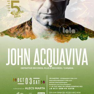 John Acquaviva - Live at Lola Club, Shanghai (China) - 03 October 2015