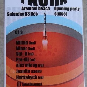 After Sunset Set. Pacha Arambol 3-12-2011