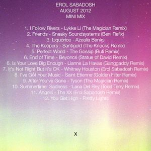 Erol Sabadosh August 2012 Mini Mix