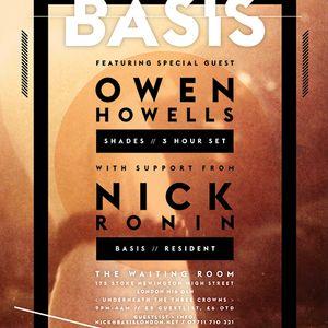 Basis Podcast 001 - March Guest Mix Owen Howells