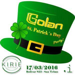 DJ Golan @ KIRIE Club (St. Patrick's Day Party!) 17-03-2016