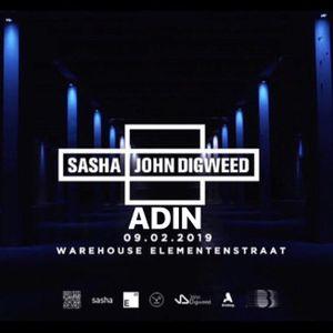 ADIN Live From Sasha & Digweed Warehouse Elementenstraat Feb 09.2019