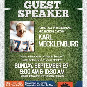 Guest Speaker: Karl Mecklenburg